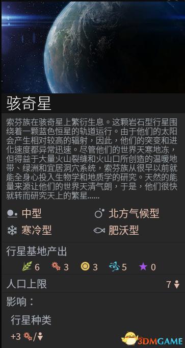无尽空间2有哪些特殊星球 特殊星球图鉴大全及属性