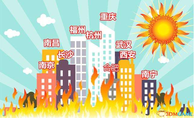 """中国夏季""""火炉""""榜再洗牌 这四城名列新四大火炉"""
