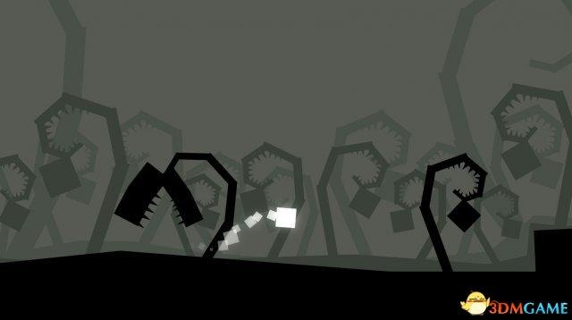 国产黑白画风横版闯关游戏《方形生物》上线Steam