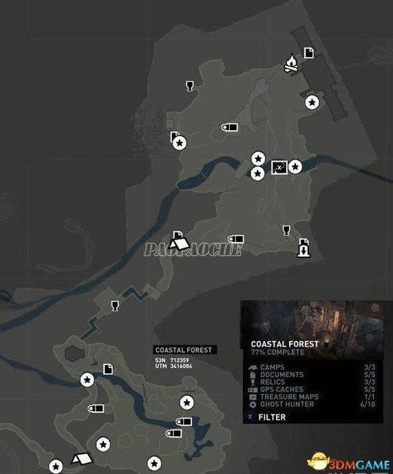 古墓丽影9猎鬼者分布位置图一览 猎鬼者都在那里