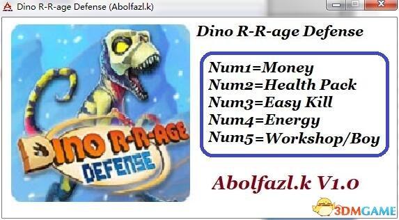 恐龙时代塔防 v1.0五项修改器[Abolfazl.k]