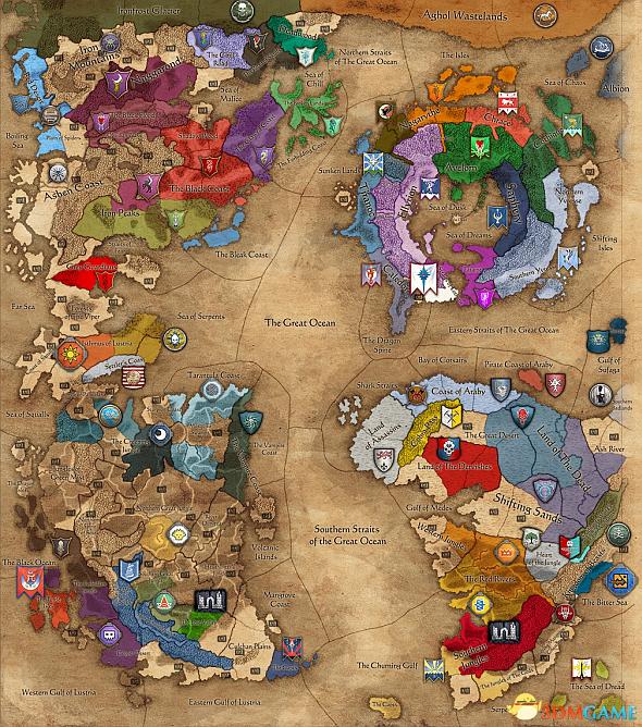 争夺大漩涡!《全面战争:战锤2》战役地图曝光