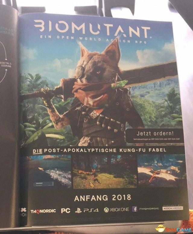 THQ Nordic新作:开放世界武打RPG《生化变种》