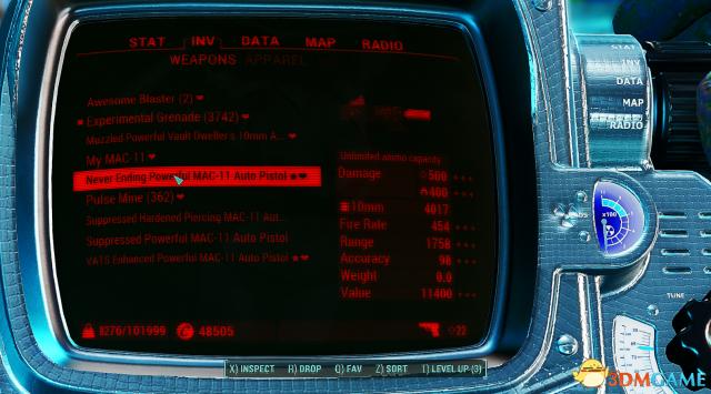 辐射4 MAC-11内置作弊MOD