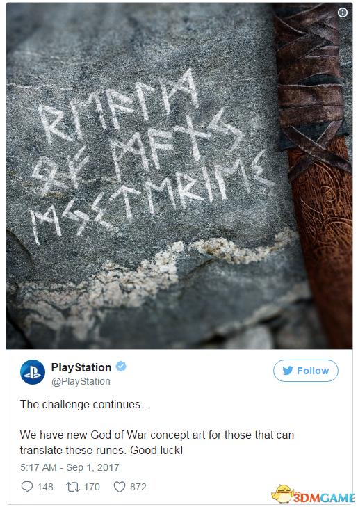 PS4大作 《战神4》 全新原画曝光 神秘古语等你发现