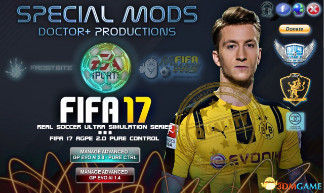 FIFA 17 AGPE纯游戏性选择工具 v2.0