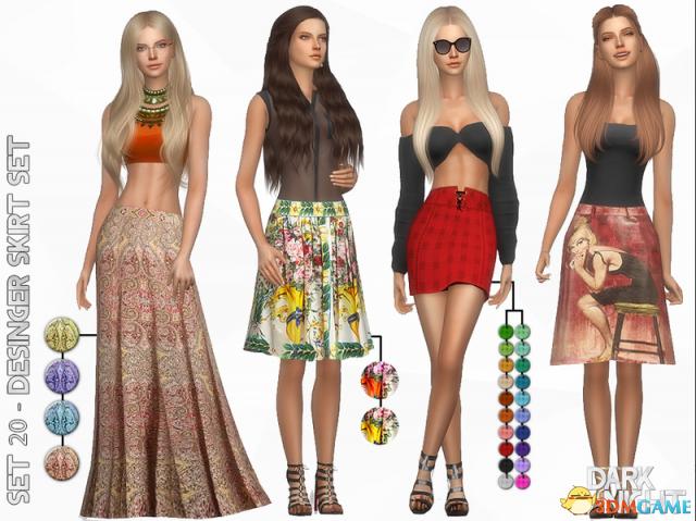 模拟人生4 v1.3120件设计师裙子套装MOD