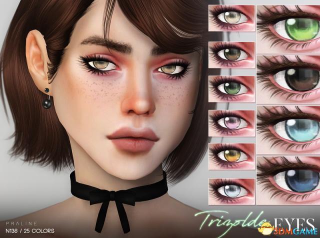 模拟人生4 v1.31Trizolde25色女性美瞳MOD