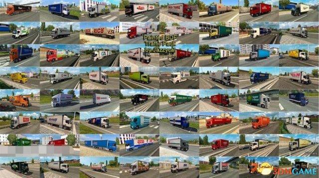 欧洲卡车模拟2 v1.28Jazzycat的涂装BDF AI合集v2.1
