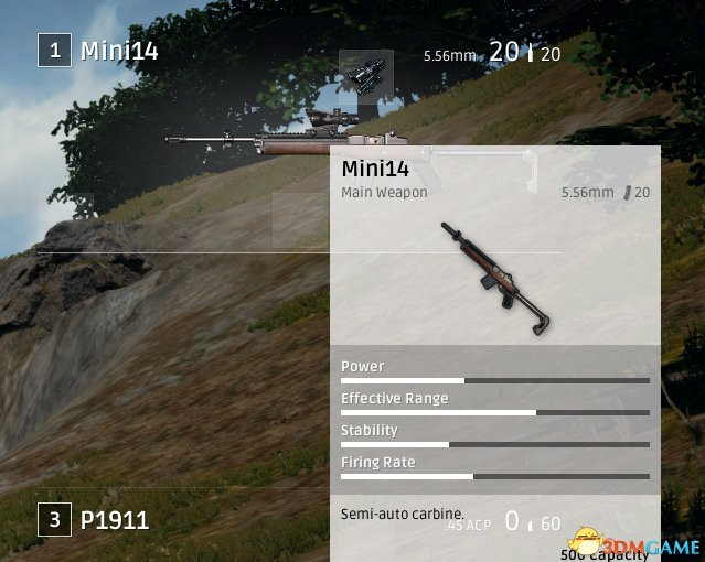 绝地求生大逃杀mini14卡宾枪武器性能分析