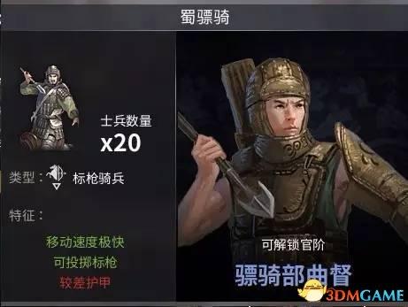 老玩家点评《虎豹骑》兵种之蜀国篇