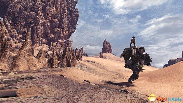 大范围的乾旱地区  一个充斥巨型蚁冢的地方。猎人在此进行探索时或会因沙漠环境而感到辛苦