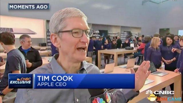 库克接受采访表示对苹果iPhone 8的发售状况满意