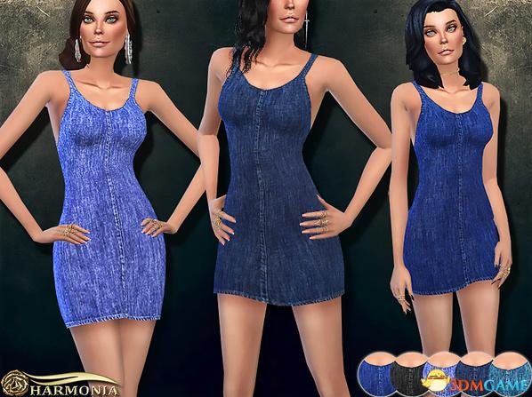 模拟人生4 v1.31弹力牛仔短连衣裙