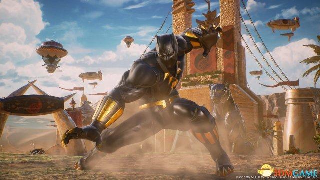 《漫画英雄VS卡普空:无限》黑豹和西格玛预告片