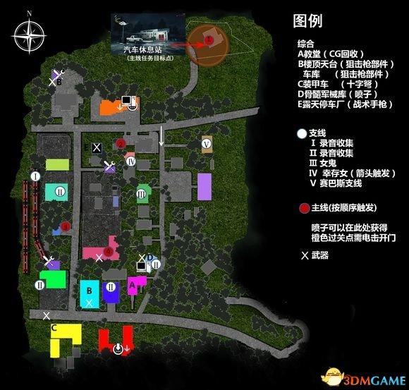 恶灵附身2两大开放地图主要点标注图片分享