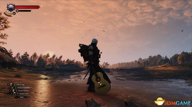 巫师3:狂猎 v1.31杰洛特背着吉他MOD