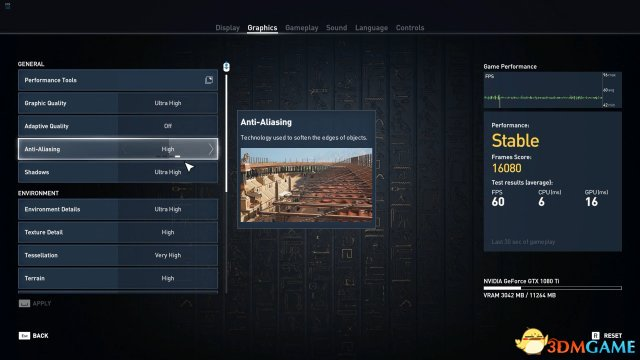 画面惊人  《刺客信条:起源》 PC版演示及画面选项