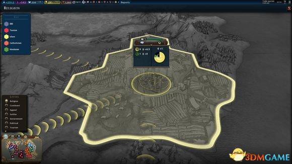 文明6新宗教界面详细解析