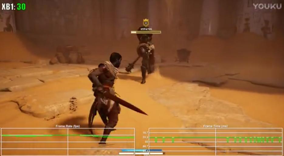 《刺客信条:起源》Xbox One版帧数测试