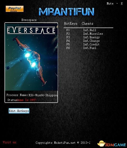永恒空间 v1.2.0.34537六项修改器[MrAntiFun]