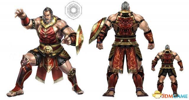《真三国无双8》黄盖人设图 肌肉男穿红甲勇猛无比