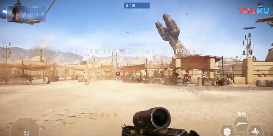 《星球大战:前线2》多人模式 Tatooine地图演示
