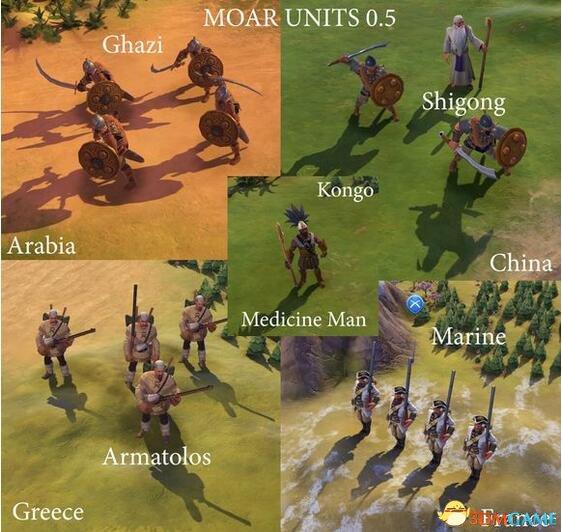 文明6 v1.0.0.194新增86种更多兵种MOD