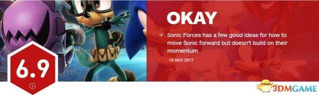 中规中矩 《索尼克:力量》仅获IGN 6.9分评价
