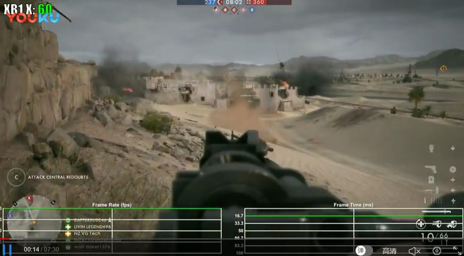 征服模式 帧数测试 Xbox One X