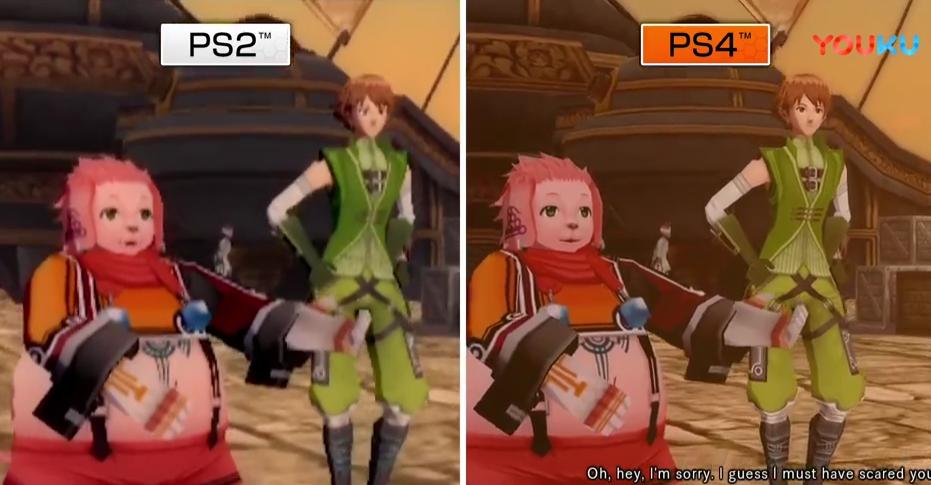 《骇客时空》PS2与PS4对比