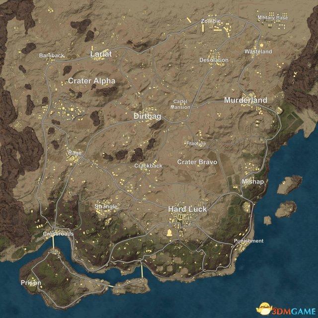 《绝地求生》新沙漠地图布局和新载具图片泄露