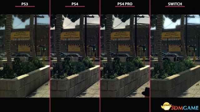 四平台《黑色洛城》画面对比 Switch版小超越PS3