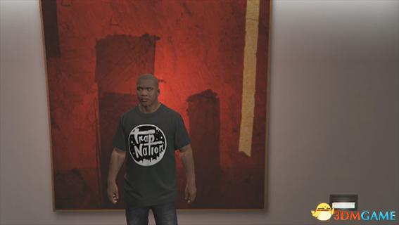 侠盗猎车5 富兰克林Trap Nation黑色T恤MOD