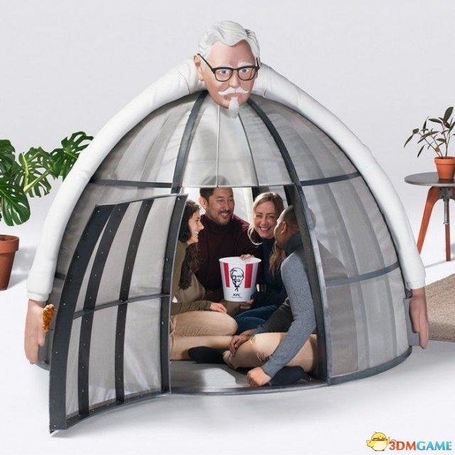 """肯德基推一万美金帐篷 只是想让你""""安心吃鸡"""""""