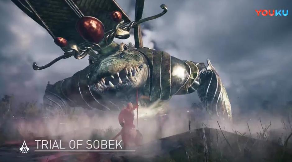 《刺客信条:起源》新预告 激战鳄鱼神索贝克