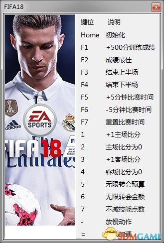 FIFA18 v1.0.49.51286十六项修改器 V2[peizhaochen]