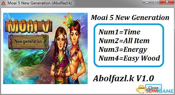 摩艾5:新时代 四项修改器[Abolfazl.k]