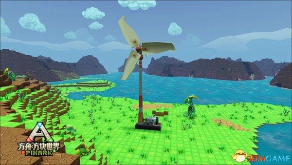 掌握自然之力,《方舟:方塊世界》風力發電玩法