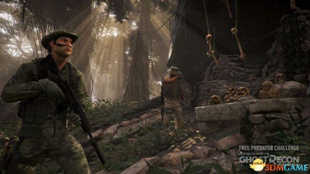 《幽灵行动:荒野》新DLC 铁血战士狂虐幽灵小队