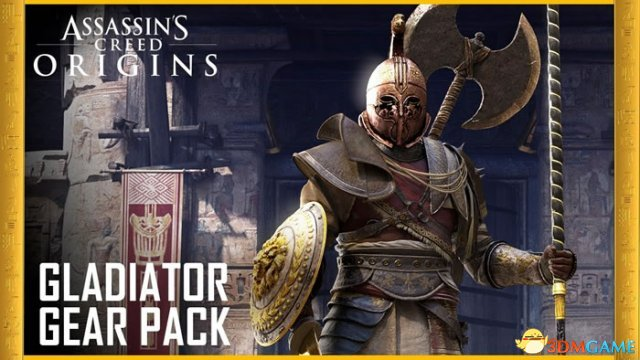 游戏新消息:刺客信条起源新DLC发布角斗士套装太威猛