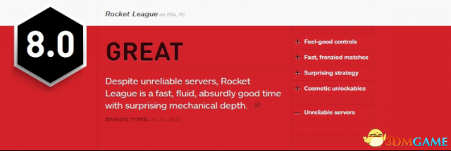 《火箭联盟》国服评测: