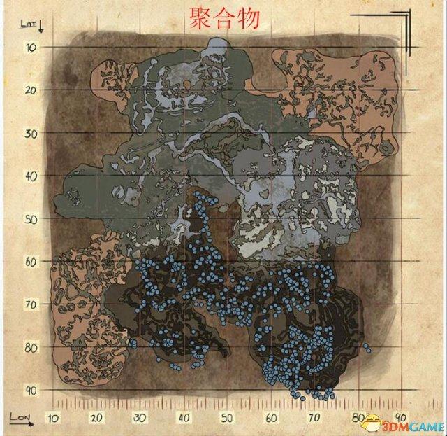方舟生存进化dlc畸变地图资源分布图览