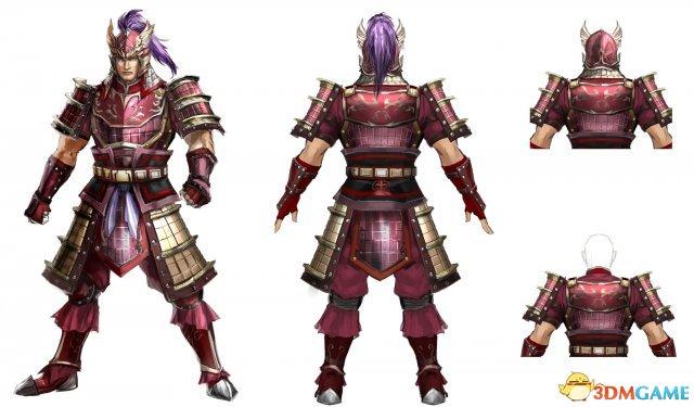 《真三国无双8》太史慈人设图 重甲紫翎赛战神