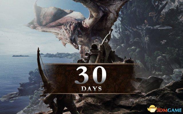《怪物猎人:世界》官方推特发文 进入30天倒计时