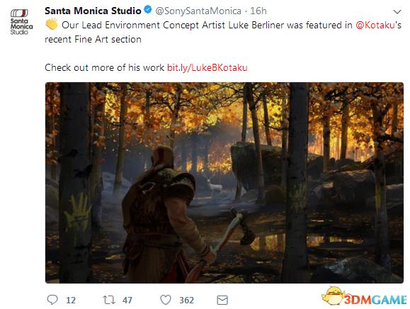 《戰神4》推特分享藝術總監新概念畫 粉絲表示期待
