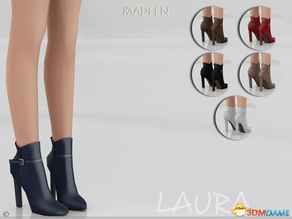 模拟人生4 v1.31短款Laura女士素色皮革尖头高跟靴MOD