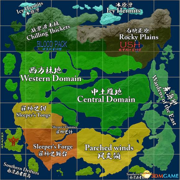 领地人生MMO地图总览 地图各区域分布展示