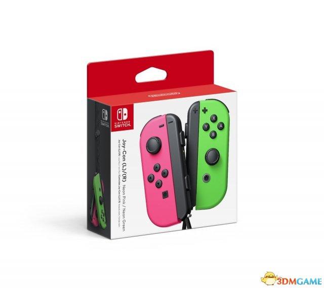 螢光綠/粉Switch Joy-Con手柄公布 本月登陸北美