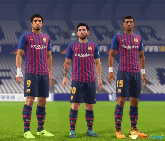 FIFA 18 巴塞罗那18赛季主场球衣补丁